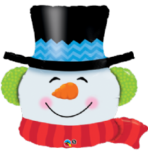 "Smilin Snowman - Large Christmas Balloon (36"") 1pc"